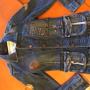Jackets & Blazers - Chi Ole Embroidered Denim Jacket. UNIQUE